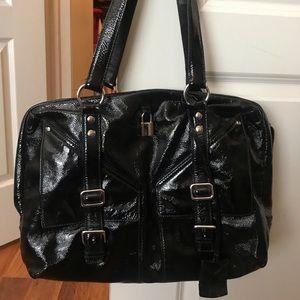 YSL Black Patent Leather Lover Bag